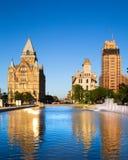 W centrum Syracuse stan nowy jork obrazy royalty free