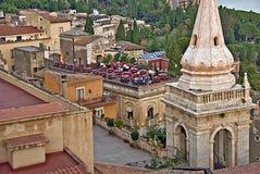 W centrum Taormina, Sicily Zdjęcia Stock
