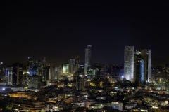 W centrum Tel Aviv linia horyzontu Zdjęcie Stock