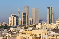 W centrum Tel Aviv linii horyzontu pejzaż miejski Obraz Stock