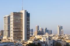 W centrum Tel Aviv linii horyzontu pejzaż miejski Obrazy Royalty Free