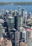 W centrum Toronto Przeglądać od powietrza Obrazy Stock
