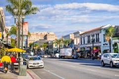 W centrum ulica, Pasadena zdjęcie stock