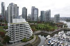 W centrum Vancouver budynek mieszkalny Obrazy Royalty Free