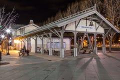 W centrum widok górski stacja Zdjęcie Royalty Free