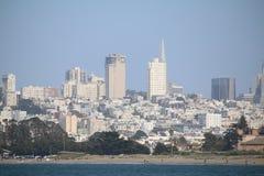 W centrum widok i pałac sztuki piękna, San Fransisco, Kalifornia, usa Obrazy Royalty Free