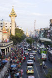 W centrum Yangon Zdjęcie Royalty Free