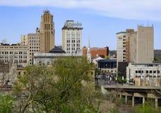 W centrum Youngstown Ohio linia horyzontu Zdjęcie Stock