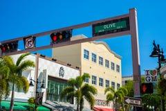 W centrum Zachodni palm beach pejzaż miejski obrazy royalty free