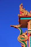 W Chińskiej świątyni smok statua Fotografia Stock