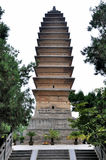 W Chińskiej starej świątyni buddyzmu wierza Zdjęcie Stock