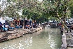 W Chiny wodny miasteczko fotografia stock