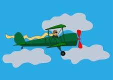 W chmurach samolotu latanie Obrazy Royalty Free