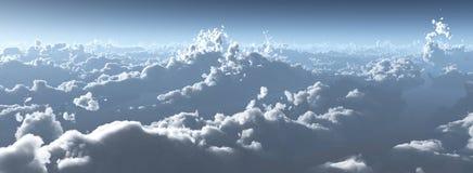 W chmurach, wsch?d s?o?ca nad chmury ksi??yc nad chmury ilustracja wektor