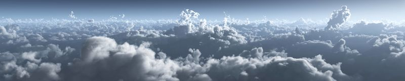 W chmurach, wsch?d s?o?ca nad chmury ksi??yc nad chmury ilustracji