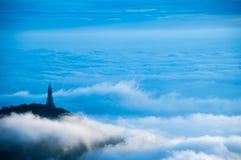 W chmurze Zdjęcia Stock