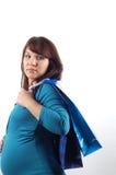 w ciąży 3 zakupy Fotografia Stock
