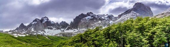 W-circuito Torres Del Paine, Chile imágenes de archivo libres de regalías