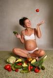w ciąży Fotografia Stock