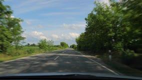 w copyspace samochodowy w jeździe widok