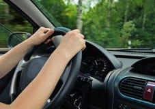 w copyspace samochodowy w jeździe widok Zdjęcie Stock