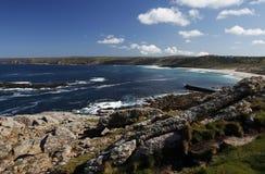 W Cornwall Whitesands Zatoka Zdjęcie Royalty Free