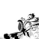 W czarny i biały dekoracyjny ptak Zdjęcie Stock