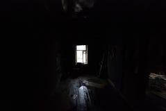 W czarnym czarnym pokoju Zdjęcie Stock
