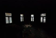 W czarnym czarnym pokoju Fotografia Stock