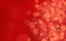 W czerwieni bokeh abstrakcjonistyczny tło Obrazy Royalty Free