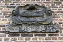 W De Baers Statua holandiach Zdjęcia Royalty Free
