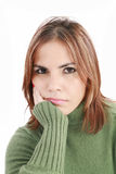 W depresji młoda piękna kobieta zdjęcia royalty free