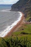 W Devon Branscombe plaża Zdjęcia Royalty Free