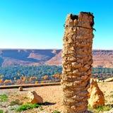 w dolinnym Morocco Africa atlant suchej góry zmielony isola Zdjęcia Stock