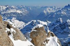 W Dolomitach narciarski teren zdjęcie royalty free