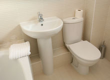 w domu łazienki nowoczesnego wewnętrznego Fotografia Stock