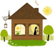 w domu illustraiton Obraz Royalty Free
