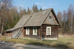 w domu mały drewniany Fotografia Royalty Free