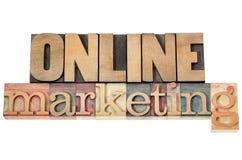 W drewnianym typ online marketing Obrazy Stock