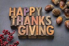 W drewnianym typ szczęśliwy Dziękczynienie zdjęcie royalty free