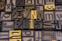 2015 w drewnianym typeset Obraz Royalty Free