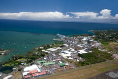 w dużej wybrzeża wyspy wschodnie widok Fotografia Royalty Free