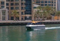 W Dubaj wodny Taxi Obraz Royalty Free