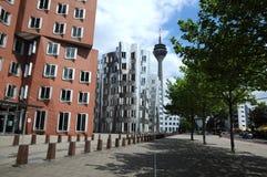 W Duesseldorf Gehry domy zdjęcie royalty free