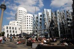 W Duesseldorf Gehry domy obrazy royalty free