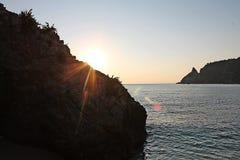 W dzikiego Calabria ` s wybrzeże Fotografia Stock