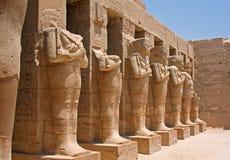 W Egipt Karnak świątynia Obrazy Royalty Free