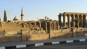 W Egipt Luxor Świątynia Zdjęcia Royalty Free