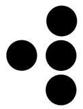 W en braille imagen de archivo