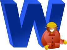 W está para Foto de archivo libre de regalías